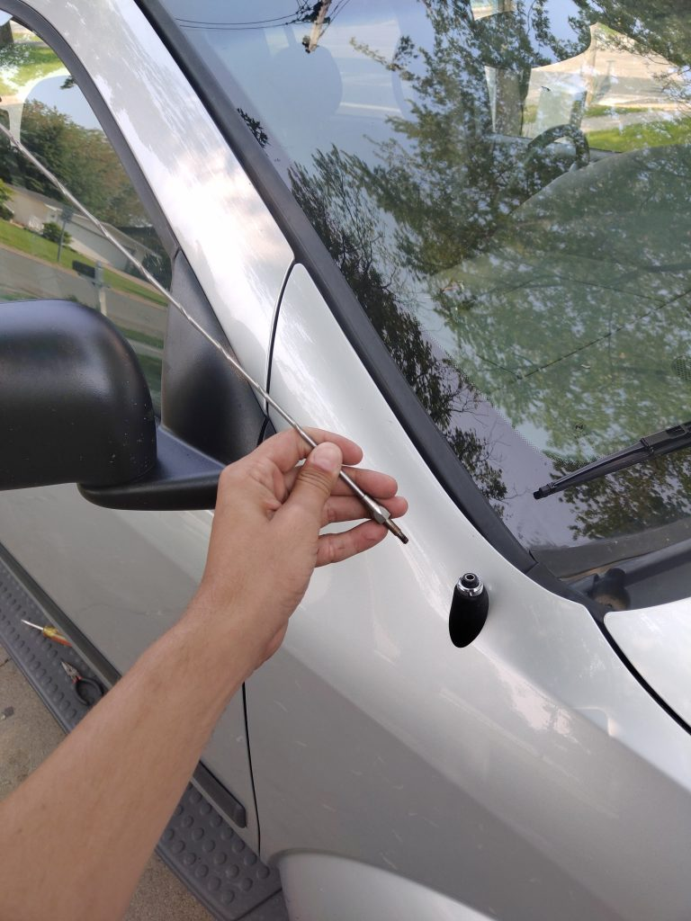 Unlock my car when the keys are inside with antenna & credit cards